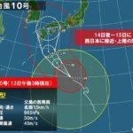 台風10号が超大型台風へ!被害予測やその対策など